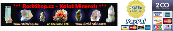 Minerals from Czech&Slovak R. - Rockshop.cz - Fine Minerals,Moldavites and Jewelry